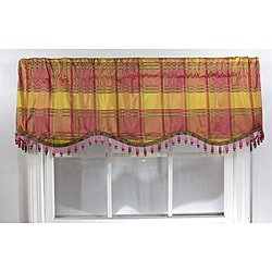 RLF Home 'Daphanie Lemon' Silk Cornice Valance