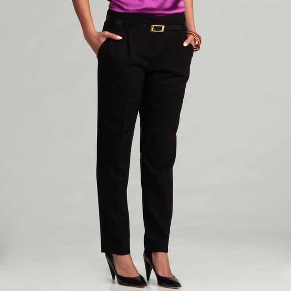 Calvin Klein Women's Black Cropped Tourser Pants