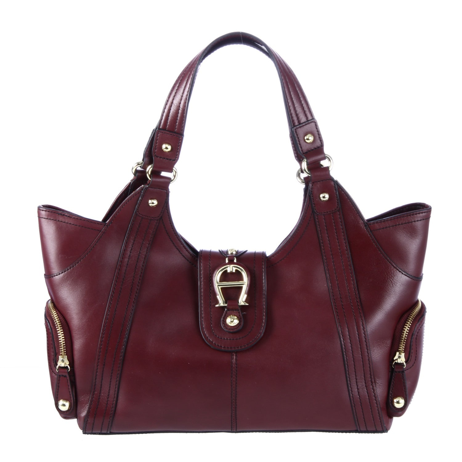 564c90eaeca Shop Etienne Aigner Montclair Leather Tote Bag - Free Shipping Today -  Overstock - 6467992
