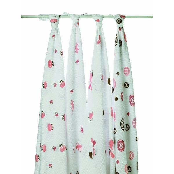 aden + anais Muslin Swaddle Blankets in Baby Cakes (Pack of 4)