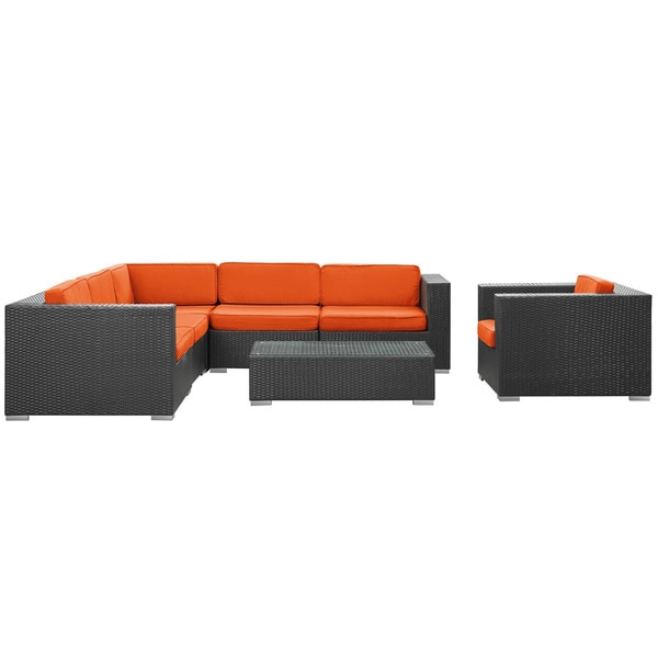 Shop Corona Outdoor Patio Espresso 7 Piece Sectional Sofa
