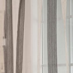 Exclusive Fabrics Signature Havannah Ash 84-inch Striped Linen and Voile Sheer Curtain - Thumbnail 1