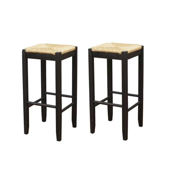 Roanoke black 24 inch counter stools set of 2 free for 24 inch bar stools