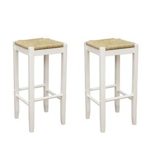 Roanoke White Wood 29-inch Barstools (Set of 2)