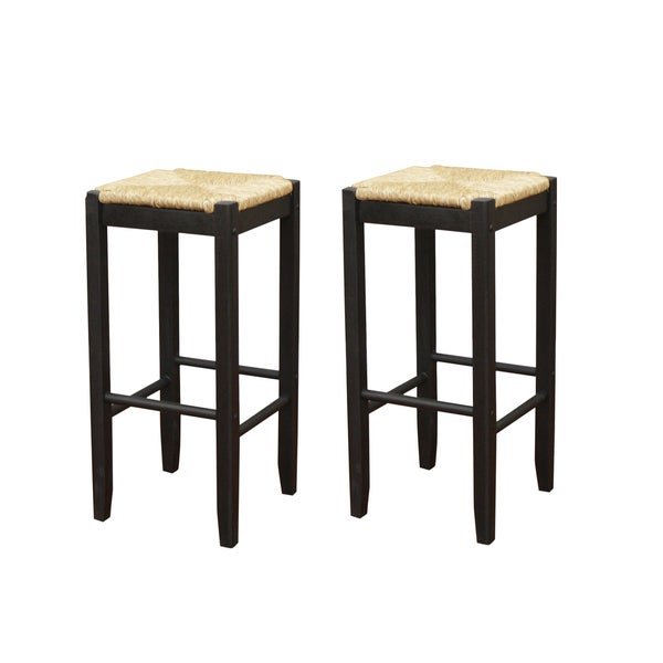 Roanoke Black Wood 29-inch Barstool (Set of 2)