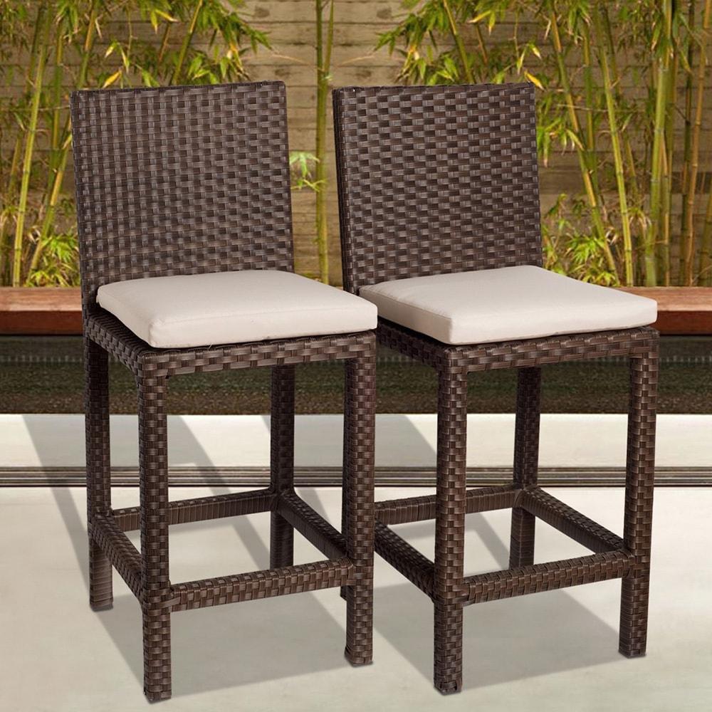 Atlantic Patio Furniture Reviews: Shop Atlantic Atlantic 'Olivia' Wicker Barstools (Set Of 2