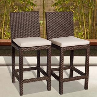 Atlantic Atlantic 'Olivia' Wicker Barstools (Set of 2)