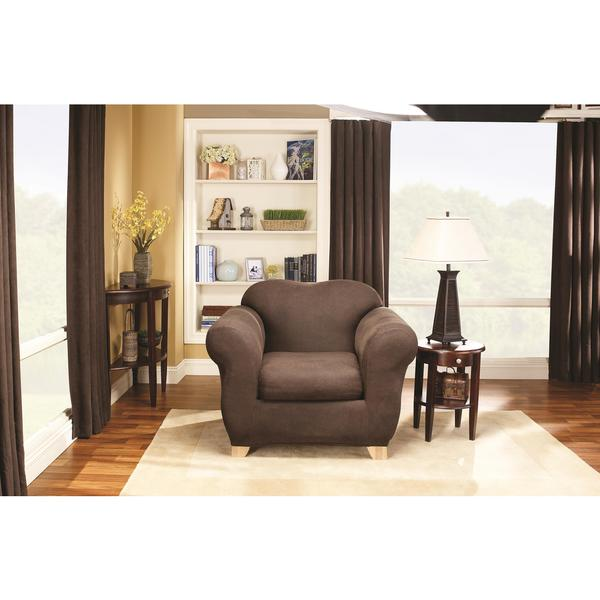 Sure Fit Stretch Leather 2-Piece Chair Slipcover