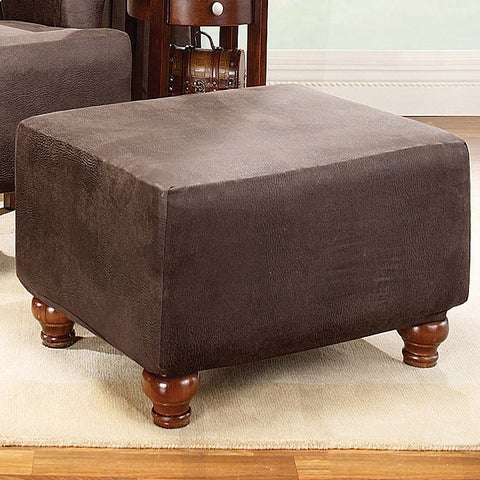 Sure Fit Brown Stretch Ottoman Slipcover