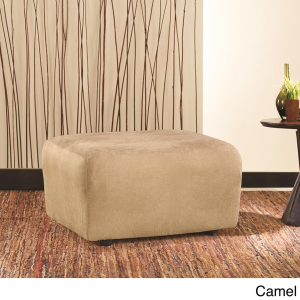 sure fit brown stretch ottoman slipcover free shipping today