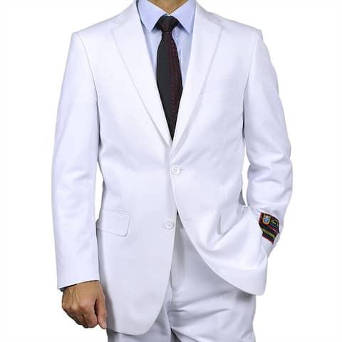 Men's White Two-button Suit