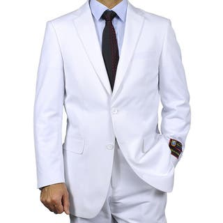 Men's White Two-button Suit