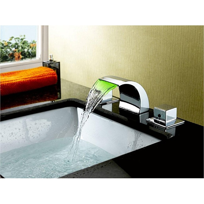 Sumerain LED Thermal Chrome Bathroom Sink Faucet - Free Shipping ...