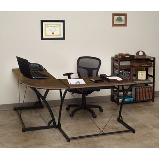 Regency Seating Modern Wood Computer L-shaped Desk - Black