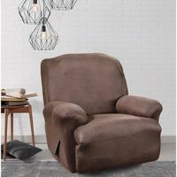Sure Fit Brown Stretch Faux Leather Recliner Slipcover
