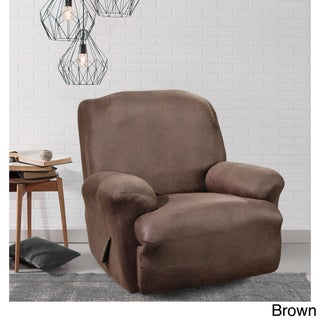Sure Fit Brown Stretch Faux Leather Recliner Slipcover (3 options available)