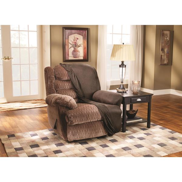 Sure Fit Brown Stretch Faux Leather Recliner Slipcover - Free Shipping Today - Overstock.com - 14064263  sc 1 st  Overstock.com & Sure Fit Brown Stretch Faux Leather Recliner Slipcover - Free ... islam-shia.org
