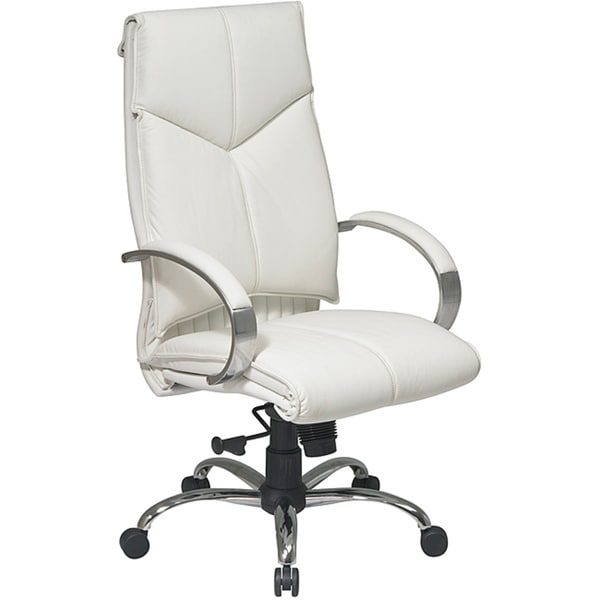 Marvelous Office Star Deluxe High Back Executive Leather Chair