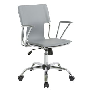 office star dorado office chair with fixed padded arms and chrome finish acrylic office chairs