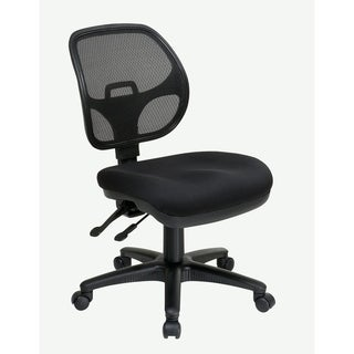 Ergonomic Armless Task Chair with Back