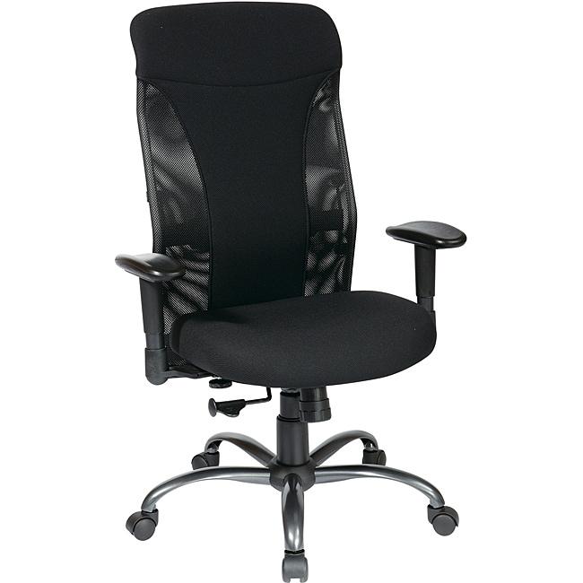 Office Star Black Mesh High-Back Chair