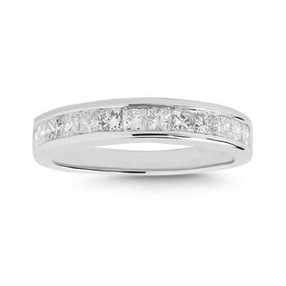 Montebello 14k White Gold 1ct TDW Diamond Wedding Band