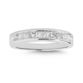 Montebello 14k White Gold 1ct TDW Diamond Wedding Band