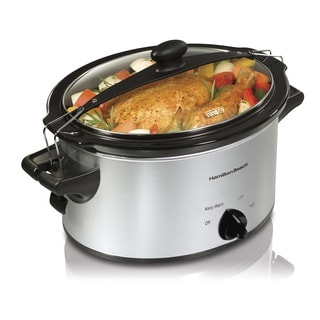 Hamilton Beach Silver Stay or Go 4 Quart Slow Cooker