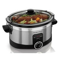 Hamilton Beach Silver 6 Quart Simplicity Slow Cooker - Stainless Steel