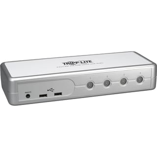 Tripp Lite 4-Port Desktop Compact DVI/USB KVM Switch w/ Audio & Cable