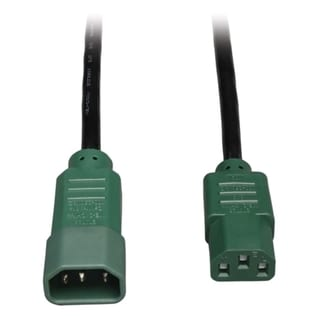 Tripp Lite 6ft Power Cord Extension Cable C14 to C13 Heavy Duty Green