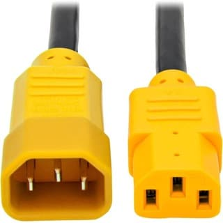 Tripp Lite 6ft Power Cord Extension Cable C14 to C13 Heavy Duty Yello