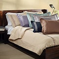 Sateen Embroidered 3-piece Full-size Coverlet Set