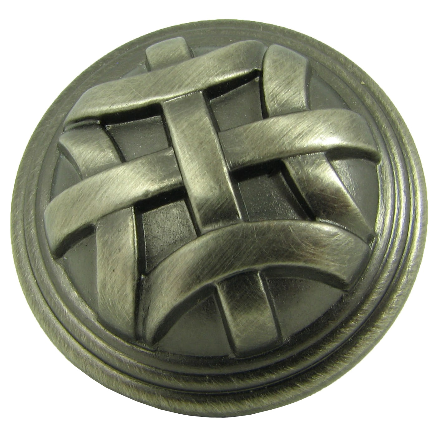 Stone Mill Weathered Nickel Cross Flory Cabinet Knob (Cas...