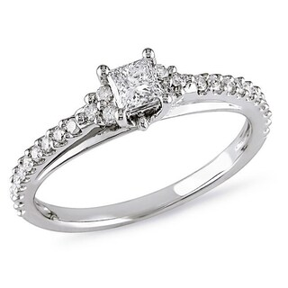 Miadora 10k White Gold 1/2ct TDW Diamond Ring (More options available)