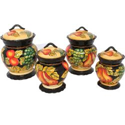 Casa Cortes Barcelona Collection 4-piece Canister Set - Thumbnail 0