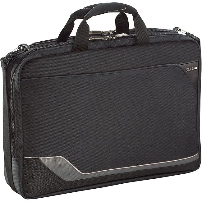 SOLO Vector 17.3-inch Clam-shell Laptop Briefcase with Headphone Port