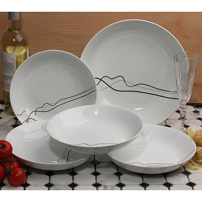 Lorren Home 5-Piece Porcelain Pasta Set
