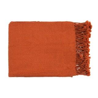 Woven Leafy Acrylic Throw Blanket