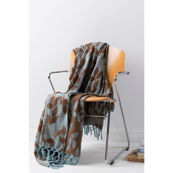 Woven Mottled Cotton Throw Blanket