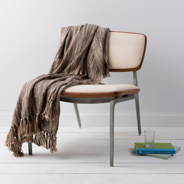 Sliver Woven Acrylic Throw