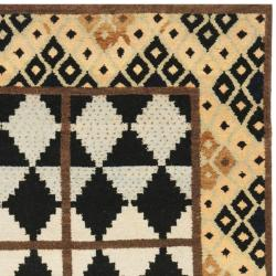 Safavieh Hand-knotted Gabeh Tribal Black/ Multi Wool Rug (6' x 9')