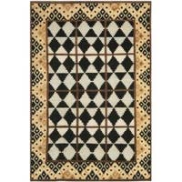 Safavieh Hand-knotted Gabeh Tribal Black/ Multi Wool Rug - 6' x 9'