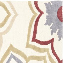 Safavieh Handmade Memories Ivory New Zealand Wool Rug (6' Square) - Thumbnail 1