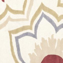 Safavieh Handmade Memories Ivory New Zealand Wool Rug (6' Square) - Thumbnail 2