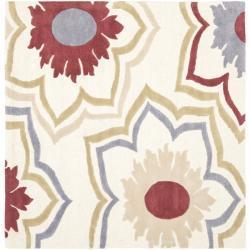 Safavieh Handmade Memories Ivory New Zealand Wool Rug - 6' x 6' Square - Thumbnail 0