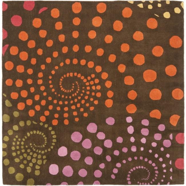 Safavieh Handmade Cosmos Brown New Zealand Wool Rug (6' Square)