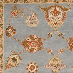 Hand-tufted Light Blue Asteri Wool Rug (5' x 8') - Thumbnail 1