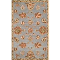 Hand-tufted Light Blue Asteri Wool Area Rug (5' x 8') - Thumbnail 0
