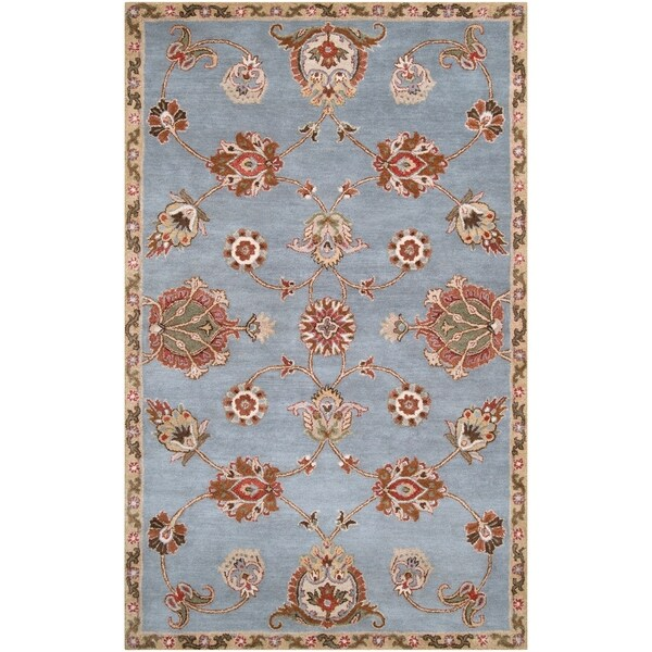 Hand-tufted Light Blue Asteri Wool Area Rug - 5' x 8'